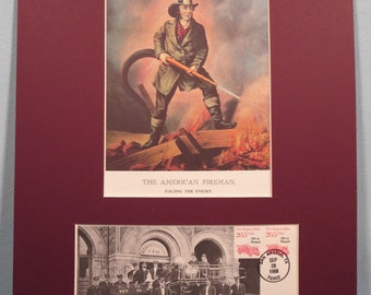 "Honoring the American Firemen - ""Facing the Enemy"" & First Day Cover"