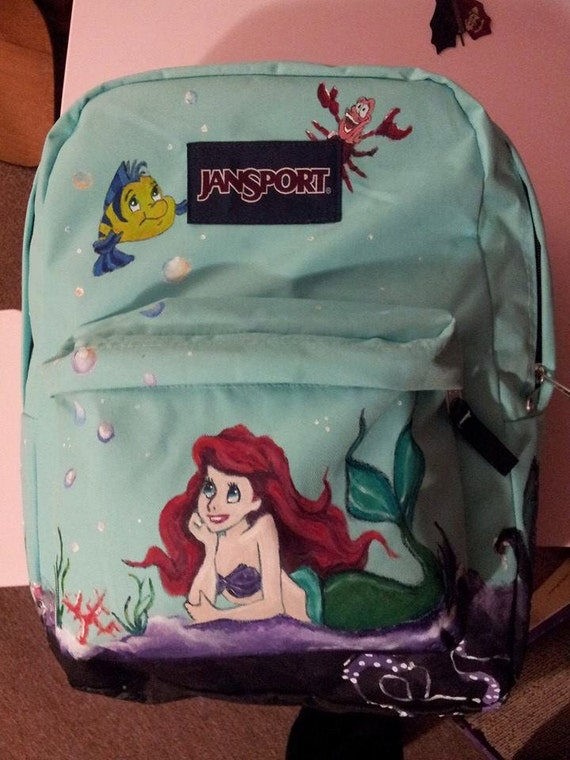 Custom Little Mermaid Jansport Backpack by ArtByJennyCurtiss