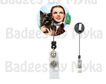 Retractable ID Badge Holder - Dorothy and Toto