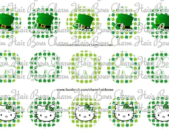 hello kitty st. patricks day bottle cap images