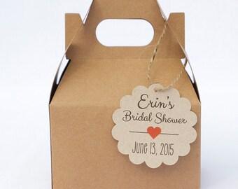 Small Bridal Shower Tags, Small Bridal Shower Favor Tags, Kraft Favor Tags (SC-006-KR)