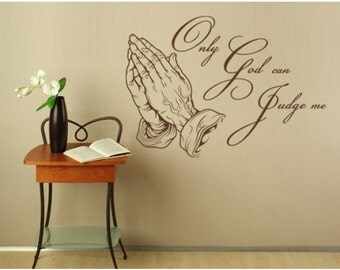 Only God religious wall decal, sticker, mural, vinyl wall art