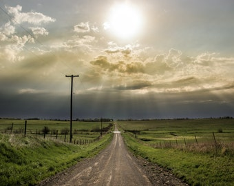 Prairie Highway, Fine Art Photography, Photography Print by Pitts Photography