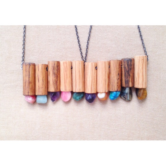 The Love Story Necklace| Wood Meets Stone