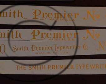 Smith Premier 2, 4 or 10  Typewriter Water Slide Decal set