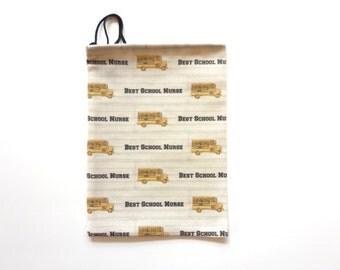 Best School Nurse - School Nurse Gift, Nurse Gift Bag, Nurses Week, Nurse Appreciation, Nurse Bag