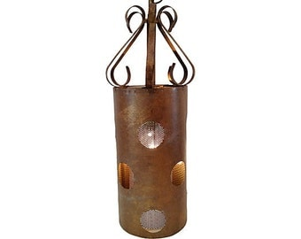 Rustic 1960s Copper Pendant