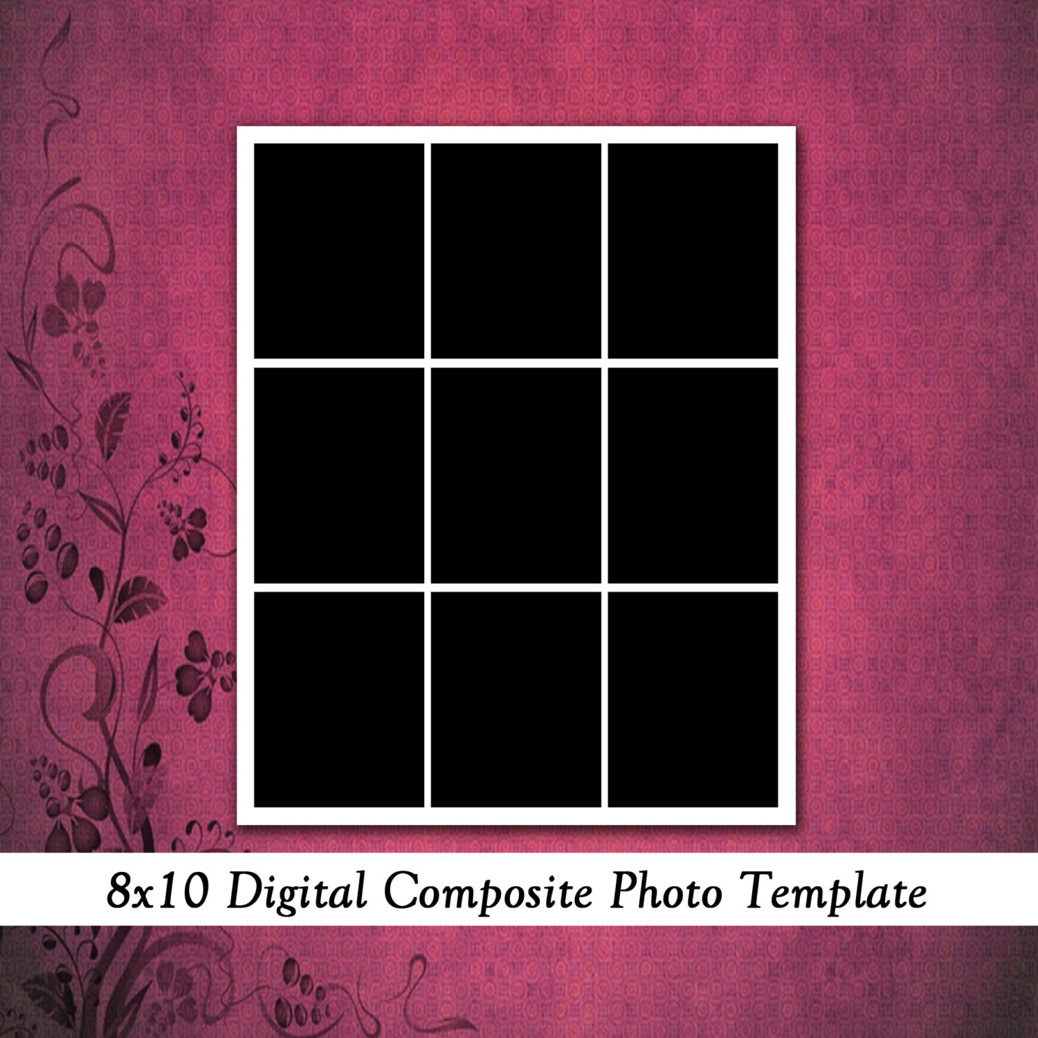 8x10 digital photo template photo collage by. Black Bedroom Furniture Sets. Home Design Ideas