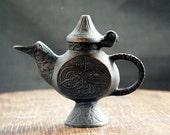 Make a wish! Antique Genie Lamp !  Exquisite Pre 1900 Bronze OIL Lamp Found In Turkey - Very Rare! Beautiful Zen Like Design