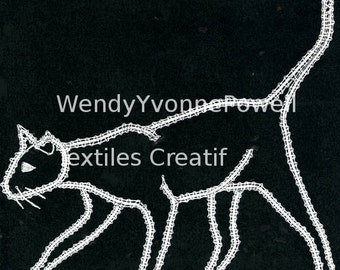 Bobbin Lace Pattern, Mr Inquisitive, Wendy Yvonne Powell, Braid Lace, Russian Braid Lace, Tape Lace, Pillow Lace, Dentelles, Kantklossen