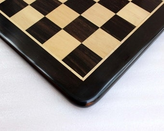 Hand made Inlaid Wooden Ebony Chess Board 21 x 21 -- Spend 200 dollars get 20%, 250 dollars get 30 percent