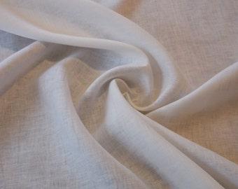 Lightweight Ivory Linen fabric by the yard