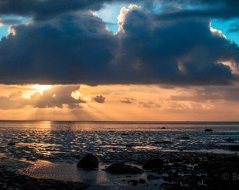 Winter morning over the sea Photo Print
