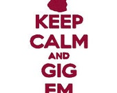 BUY2GET1FREE - Keep Calm and Gig Em Texas A&M Inspired Machine Embroidery Design - 5x7 and 6x10 Thumbs Up and Text