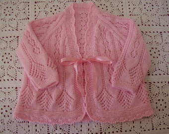 Handknitted Baby Jacket Cardigan