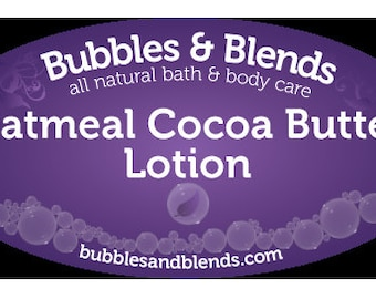 4oz. Glass Reusable Jar Of Oatmeal CocoaButter Lotion **Always Free Shipping in the U.S.**