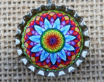 BOTTLE CAPS-Mandala, Rainbow