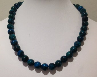 Necklace. 42cm.Chrysocolla beads