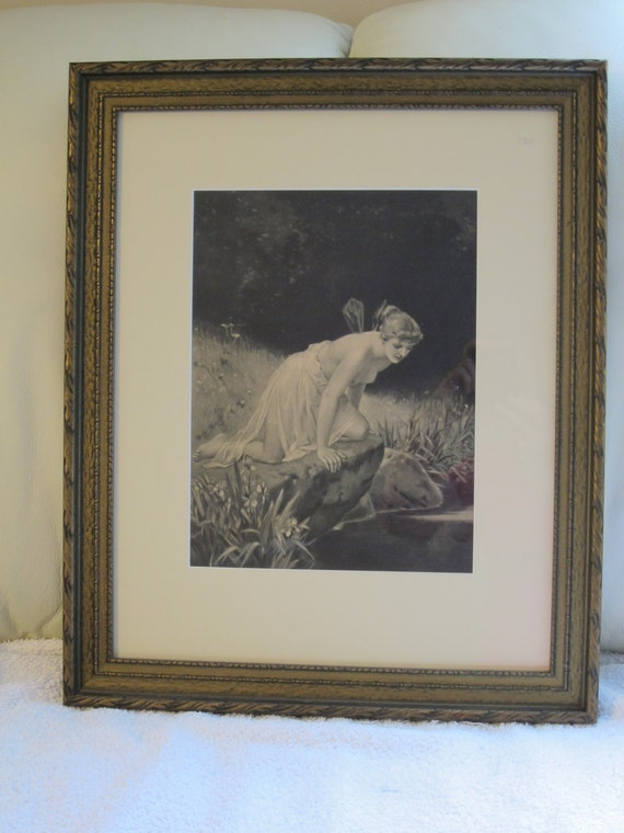 Items Similar To Psyche At Nature S Mirror 1890s