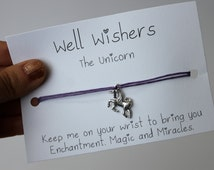 The Unicorn - Enchantment, Magic and Miracles | Well Wisher Charm Bracelet Jewellery | Wish Bracelet, Best Friend Gift, Birthday Gift.