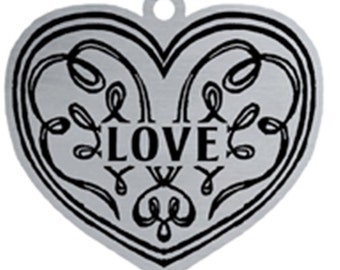 Woodbury Pewter Christmas Heart Love Handcrafted Ornament Personalized Engraved Holiday Gift Souvenir Decor