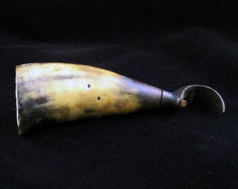 Vintage Horn Bottle Opener - Primitive Rustic