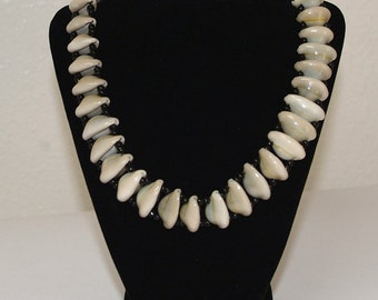 African Cowrie Shell Necklace, Single Strand