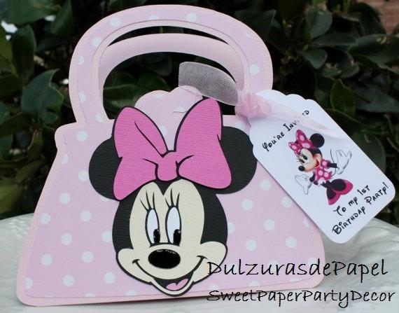 Minnie Mouse Purse Invitation Minnie Mouse Invites Minnie