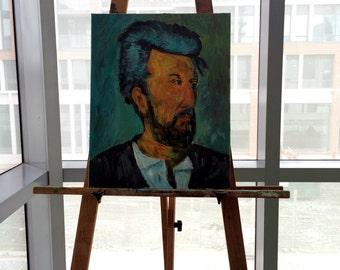 "Impressionist-Inspired Portrait ""Pensivity"" 16x20 Acrylic Painting"