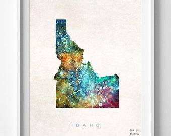 Idaho Map Print, Boise Print, Idaho Poster, Boise Map, Watercolor Painting, Map Art, Wall Decor, Traveler, Home Decor, Back To School