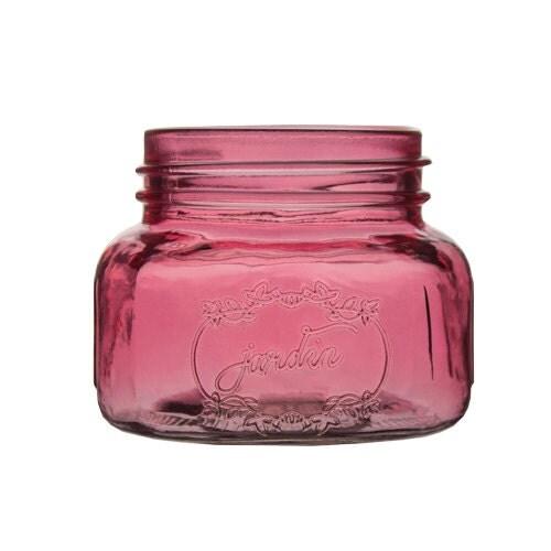 pink mini mason jar wedding 16 oz glass mason jar decor bulk. Black Bedroom Furniture Sets. Home Design Ideas