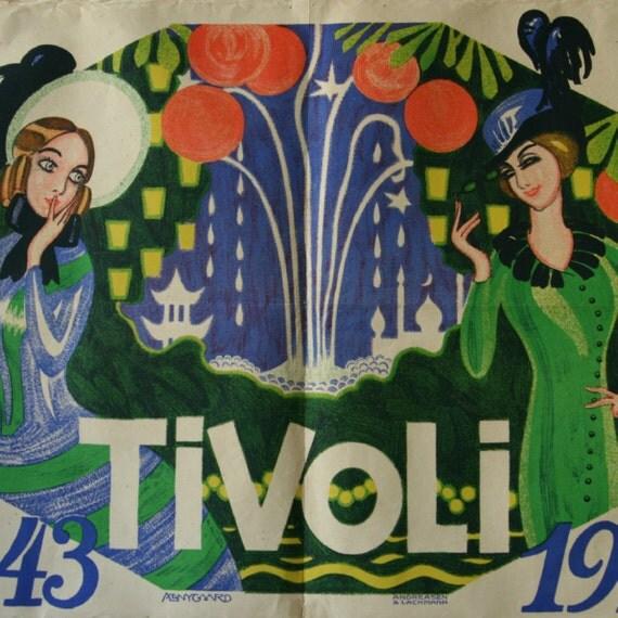 1913 Tivoli Original Vintage Poster by OutofCopenhagen on Etsy