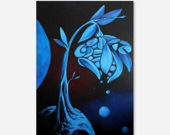 Alpha - Acryl Painting on Hardboard - Size: 50x70cm