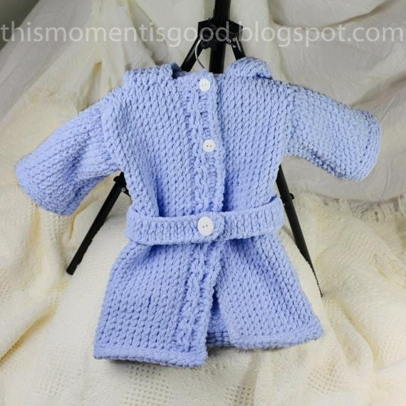 Loom Knitting Questions : Loom knit baby bathrobe pattern spa quality and teddy