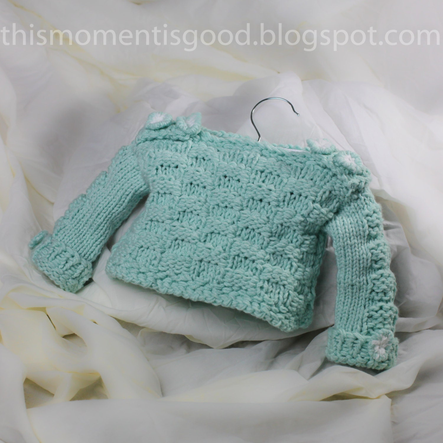 Loom Knit Baby Sweater Pattern: Checkerboard Pattern on