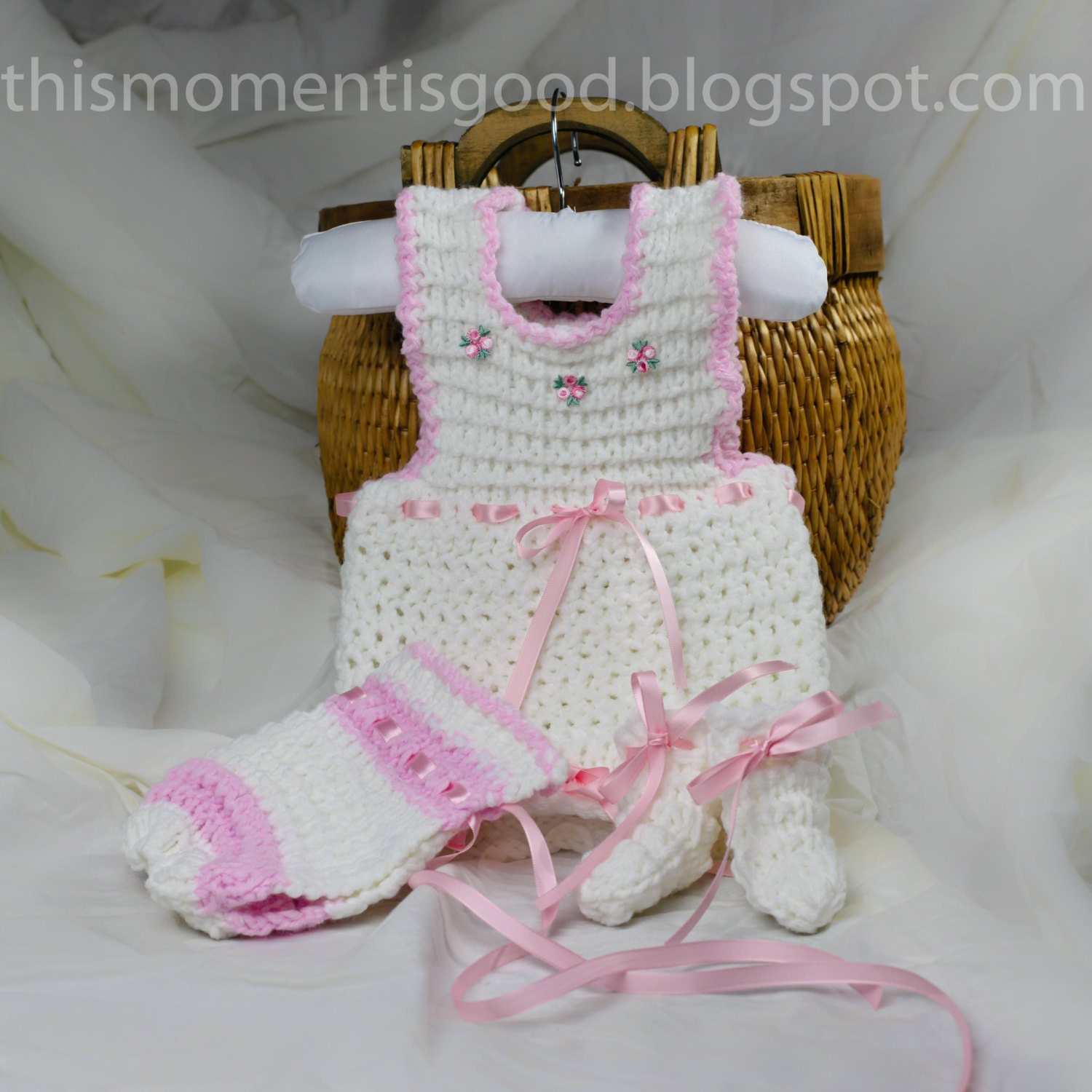 Loom knit Baby Jumper Set PATTERN. PATTERN ONLY includes