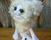 Needle felted art doll. Сat Marquis. Felted toy. Felted doll. Wool toy. Cat doll. Felted cat. Felt doll. Felt cat. Collectible doll.