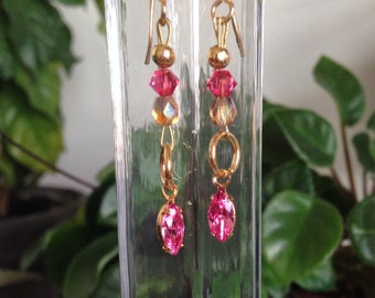 Sparkly earrings with Swarovski crystals