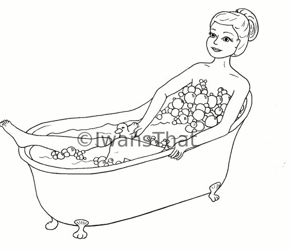 bath time coloring pages - photo#13