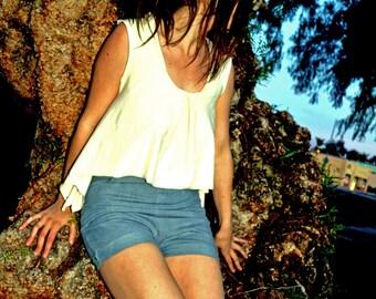 Organic Cotton High Waisted Shorts