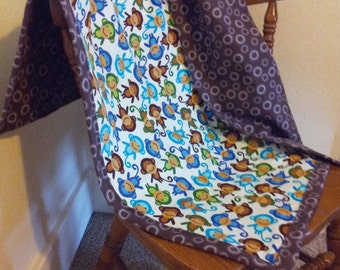 Monkey Around Baby Blanket SALE