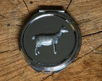 Goat Compact Handbag Mirror Ladies Engraved Gift