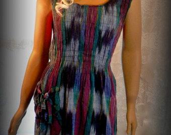 Homemade summer dress, Plus size dress, Womens dress, Vintage dress, Colorful dress