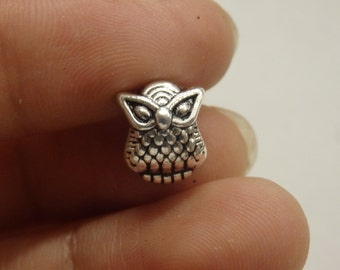 10 owl european bead charm bracelet tibetan silver antique silver wholesale