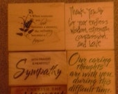CLEARANCE SALE Christian Sentiments Scripture Rubber Stamp Set - Kit 8