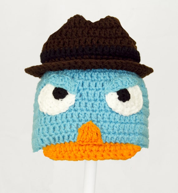 Agent P Hat Blue Perry the Platypus Disney Beanie in all