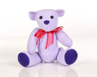 Lilac Bear Kit - Fleece Sewing Project