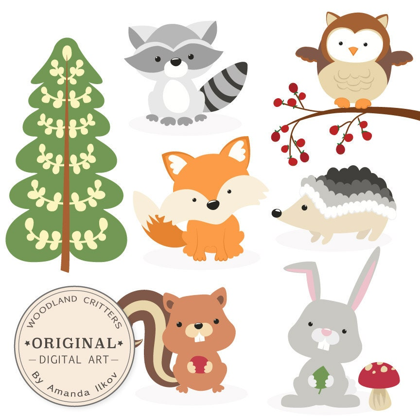 Premium Woodland Animals Clip Art Amp Vectors By Amandailkov