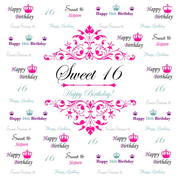 Pics Photos Sweet Sixteen Photo Booth Background