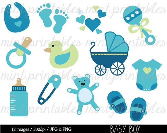 Superior Baby Shower Clipart Clip Art, Baby Boy Clipart, Baby Clipart, Blue, Onesie  Baby Stroller   Commercial U0026 Personal   BUY 2 GET 1 FREE!